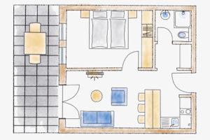 Gästehaus 06 - Skizze