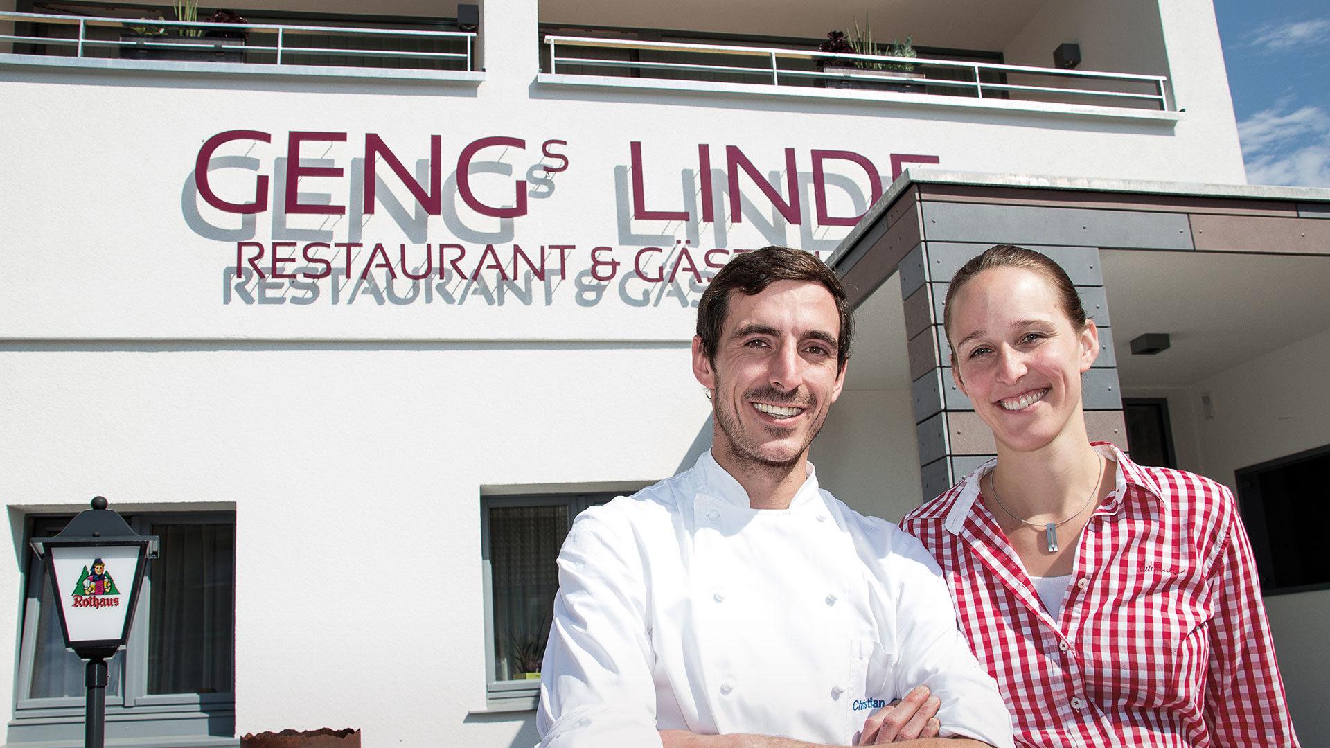Geng's Linde - Gastgeber Christian und Silvia Geng